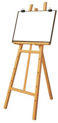 easel-with-paper